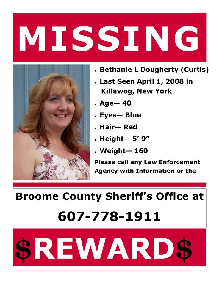 missing people | Active Missing Persons Case | Broome County, NY