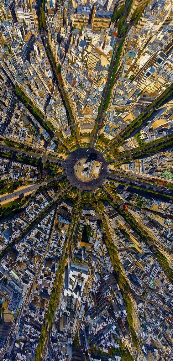 These pics show us another perspective to look down at these cities.