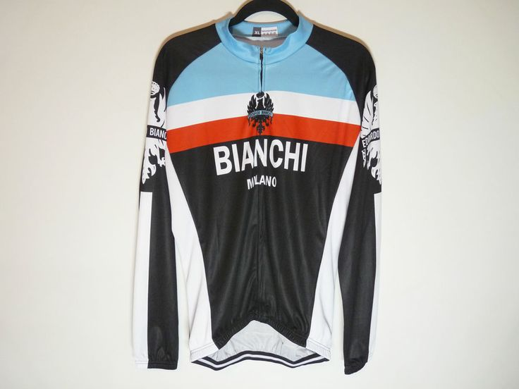 Bianchi Milano unbranded long sleeve cycling jersey maillot cycliste - NWT - XL