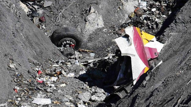 Gravações na cabine do avião dão pistas sobre os minutos finais do voo que caiu nos Alpes - Fornecido por BBC