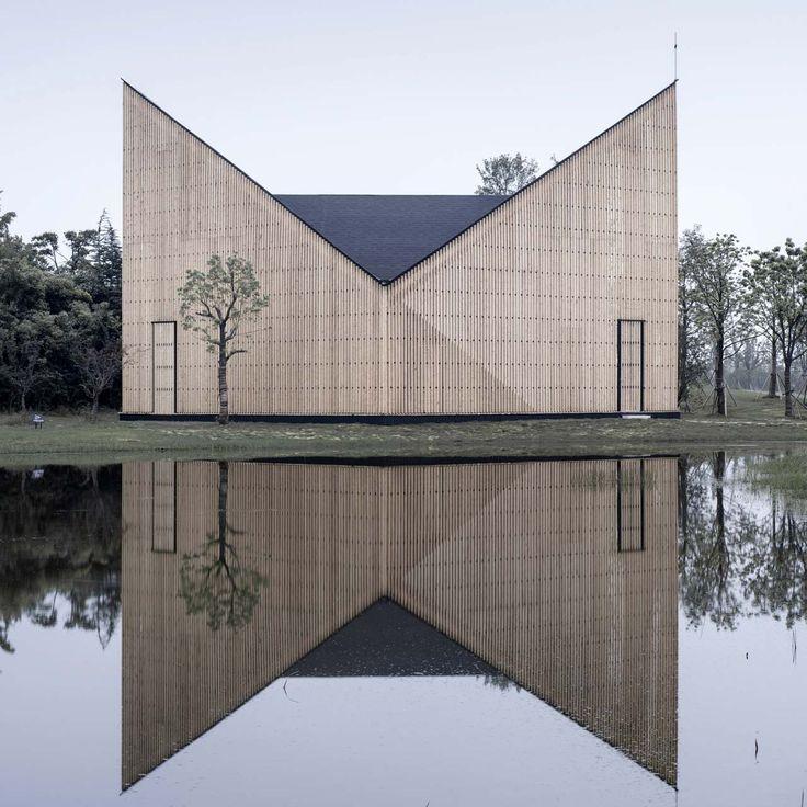 Nanjing Wanjing Garden Chapel by AZL Architects in Nanjing, Jiangsu, China. #morfae #azlarchitects #churchdesign #architecture