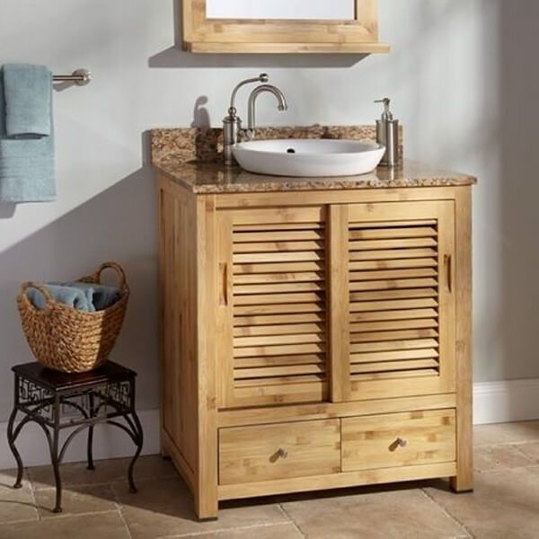 30 Amazing Pallet Furniture Farmhouse Designs Bathroom Vanity Remodel Unique Bathroom Vanity Small Bathroom Storage Diy
