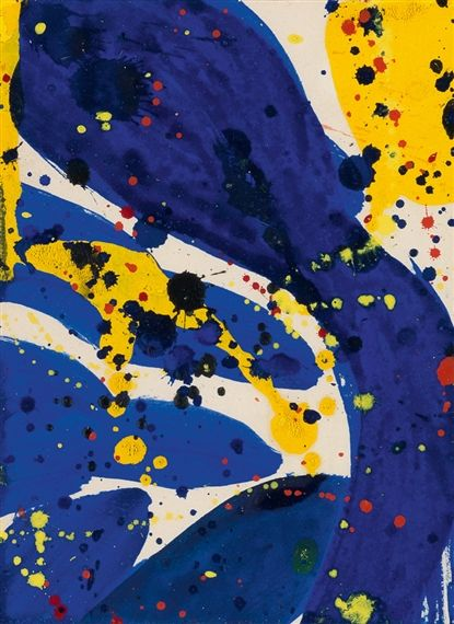 Sam Francis, Abstract Blue, Yellow and Red