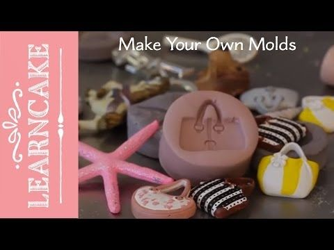 this is probably the best pin ive ever pinned!!▶ Make your own moulds for cake decorating with Verusca Walker - YouTube