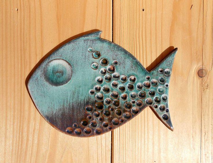 Pesce ceramica fatto a mano di LeDueTerreeDintorni su Etsy