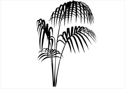 Exotické listy - malířská šablona