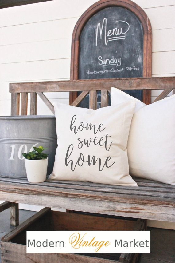 Pillow-Decorative Pillows-Designer Pillow-Throw Pillow-Quote Pillow-Custom Pillow-Home Sweet Home Pillow-Fall Pillow-Vintage Pillow