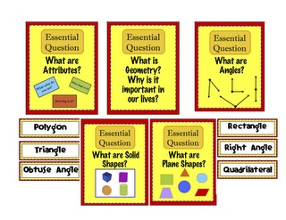 Geometry Essential Questions Posters