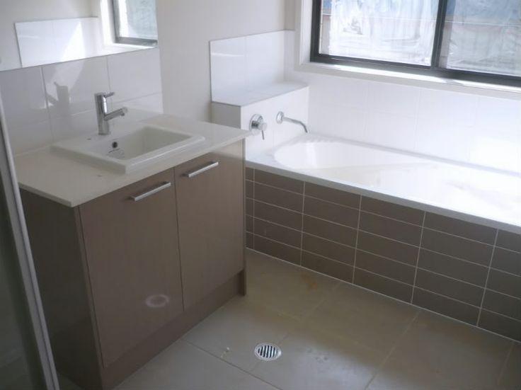 Paint - Solver Smoke Pearl Bathroom vanities - Laminex Silk finish Mushroom…