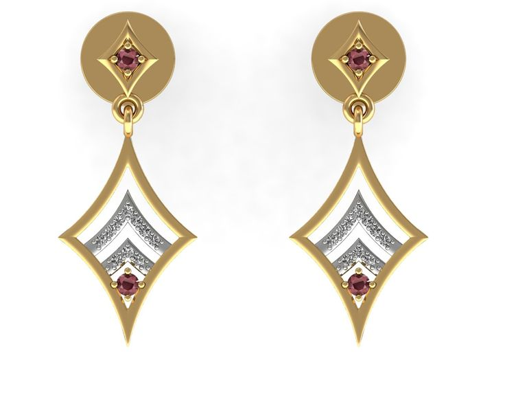 Certified Diamond Dangle Earrings Ruby Solid Yellow Gold Jewelry