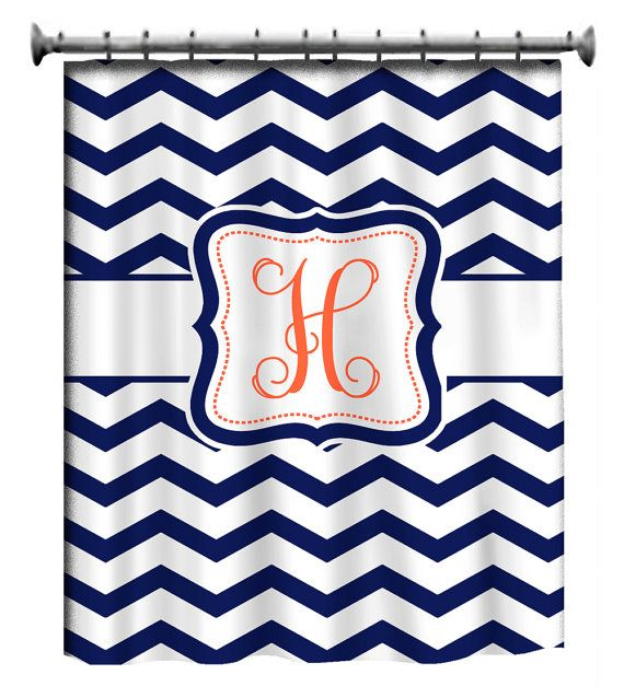 Custom Personalized Chevron Shower Curtain  your by redbeauty, $78.00   for my bathrooom(: but red instead of orange