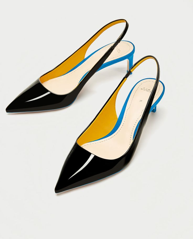 CONTRAST MID-HEEL SHOES-High-heels-SHOES-WOMAN-SALE | ZARA United Kingdom