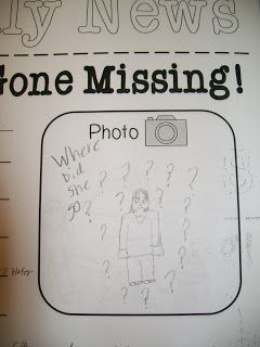 """Fun, FREE writing activity to include in your sub tub or lesson plans on a day you know you'll be out! {Students love being creative with this """"teacher is missing"""" writing prompt!}"""