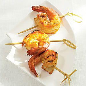 5-Ingredient (or fewer!) Appetizers | Thai Shrimp Skewers | CoastalLiving.com