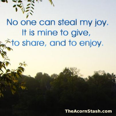 Daily Affirmation from www.theacornstash.com: Wise, Sassy Sayings, Joy It S, Meditation, Happy Joy