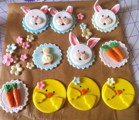 BunnyDuckchick Cupcake Toppers EasterFarm animals
