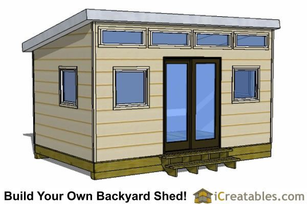 10x16 Shed Plans - DIY Shed Designs - Backyard Lean To & Gambrel