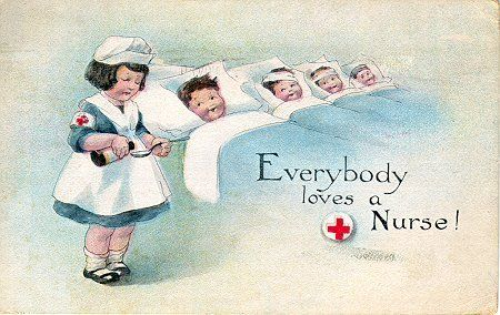 Vintage Nursing postcard