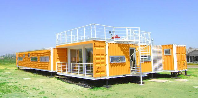 A used shipping container cast about $2K, after that it's up to you. - Imgur