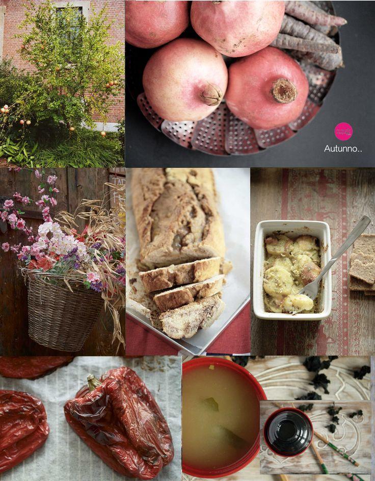 Ricette autunnali e pinterest ispiration dal mio blog. Rosso, blu e altri contrasti per il mio autunno 2014.