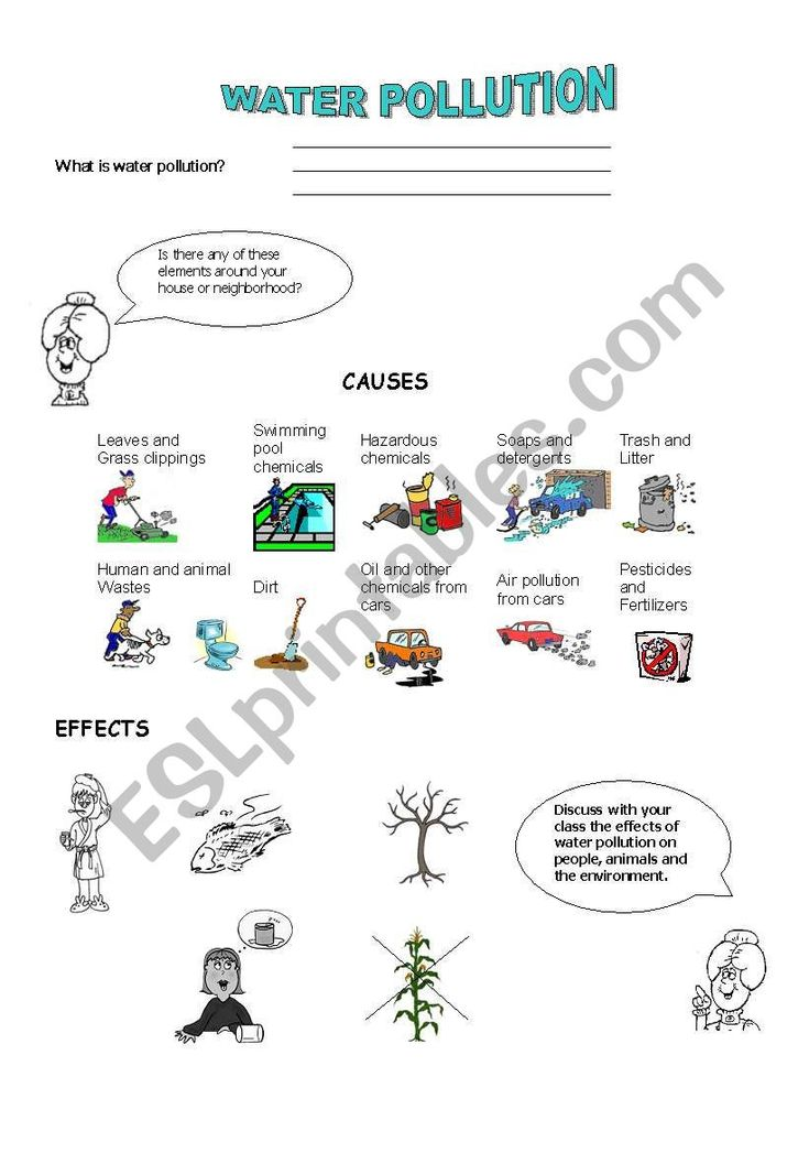 Water Pollution Esl Worksheet By Paisita In 2020 English