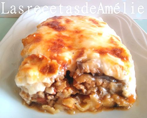 Receta de moussaka de berenjena y carne