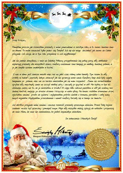 List od Mikołaja | Elfi