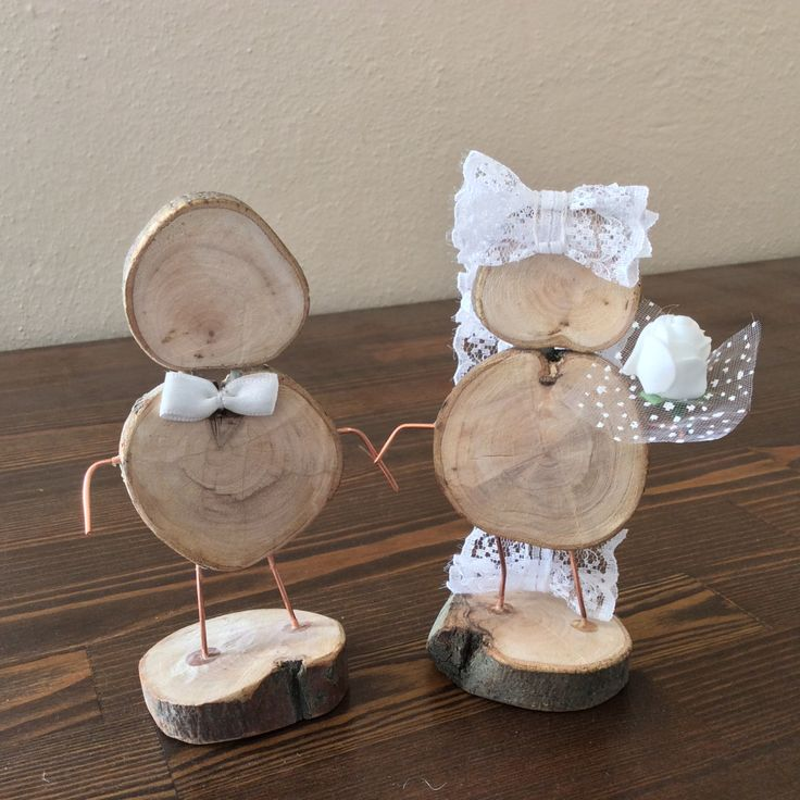 Wooden Wedding Figures, Rustic Wedding Cake Topper, Wooden Table Number Holder, Handmade by WoodyMel on Etsy