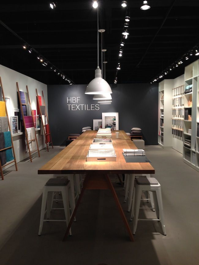 HBF Textiles showroom at Neocon                                                                                                                                                                                 More