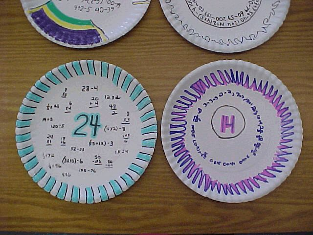 paper plate thinking maps- maybe the kids could write an idea and pass the plate