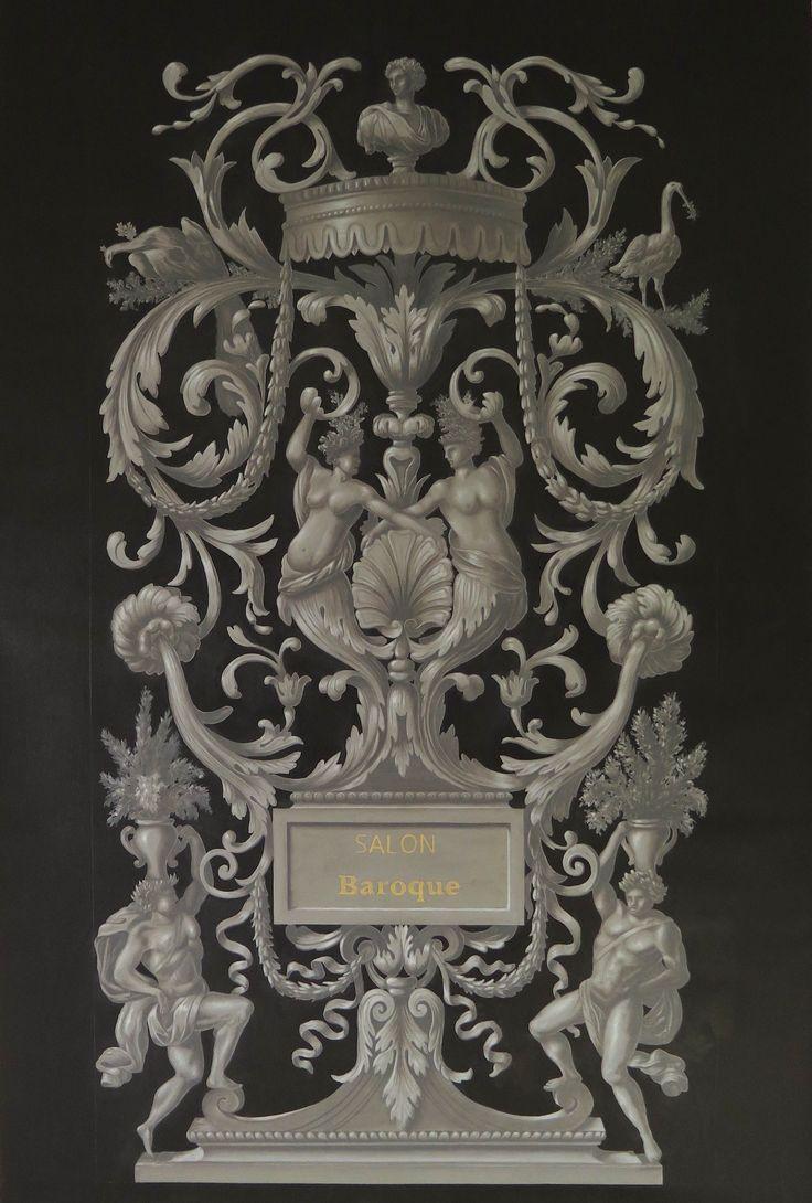 interesting baroque ornaments hand painted julien gautier ornements baroques peints la main. Black Bedroom Furniture Sets. Home Design Ideas