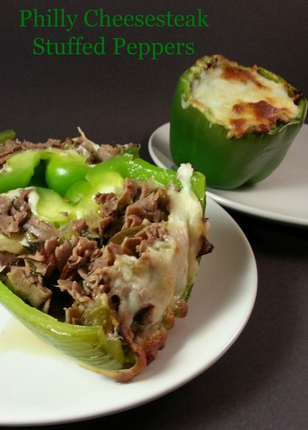 Cheesesteak lovers can rejoice with these Gluten free Philly Cheesesteak Stuffed Peppers. All of the flavor, just slightly healthier without the bread.