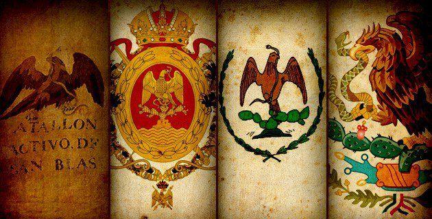 Presentamos un recorrido por las diferentes banderas de México que antecedieron a la actual enseña nacional y que fueron la representación de la identidad.