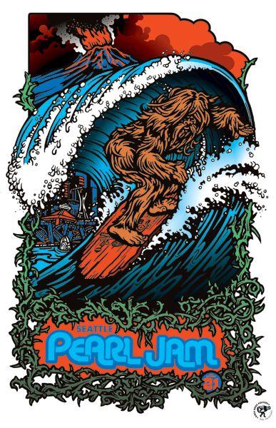 Ames Brothers Poster - Pearl Jam