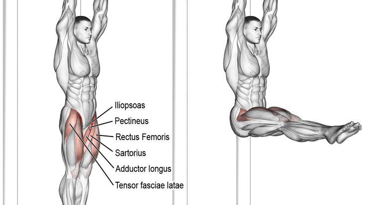 Hanging straight leg raise exercise