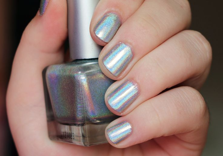 Urban Outfitters Silver Holo Nail Polish Swatch