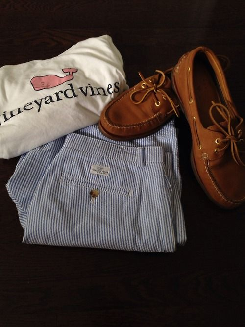 thereaganrevolution:  OOTD  VV long sleeve VV seersucker club shorts Gold Cup Sperry's