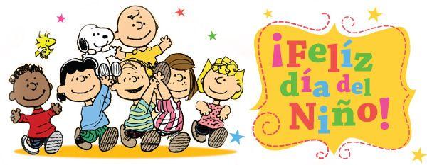 Imagen de Feliz Día del Niño con Charlie Brown (Carlitos) y Snoopy