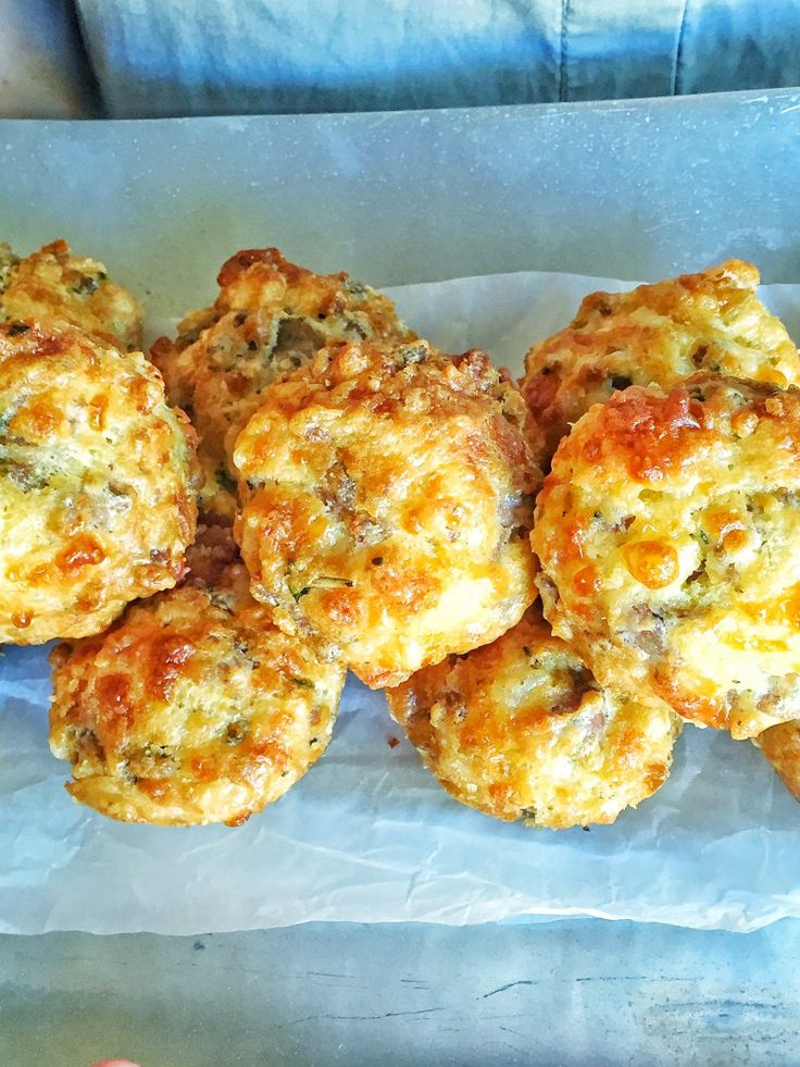 These sausage and cheese mini muffins are so easy to make. The only problem is that it is very hard to eat only one! Packed with flavoursome crumbled sausage and grated cheese.   I have to give credit to these sausage muffins to my step mom, Kay...