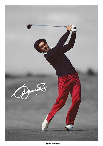 SEVE BALLESTEROS SIGNED AUTOGRAPH PHOTO PRINT POSTER GOLF RYDER CUP BRITISH OPEN | eBay