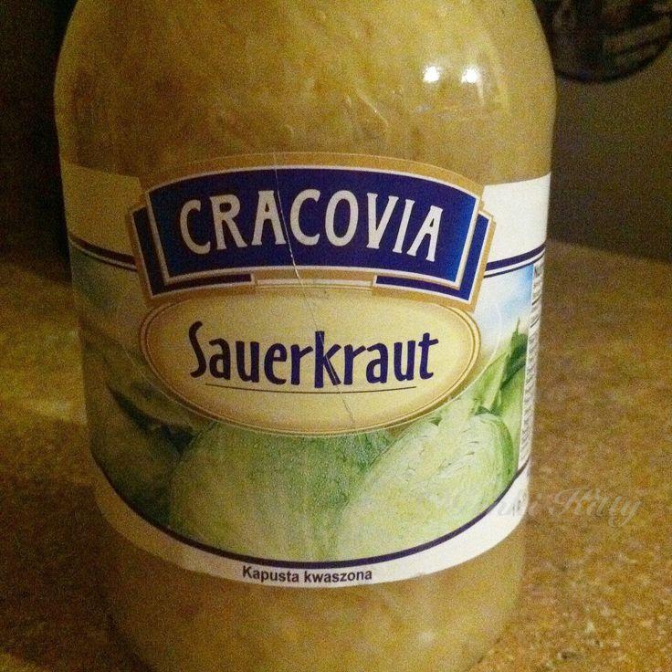 Polish Sauerkraut that is not as strong as traditional homemade German sauerkraut but it is a great alternative. #cracovia #polish #food #vegan #sauerkraut