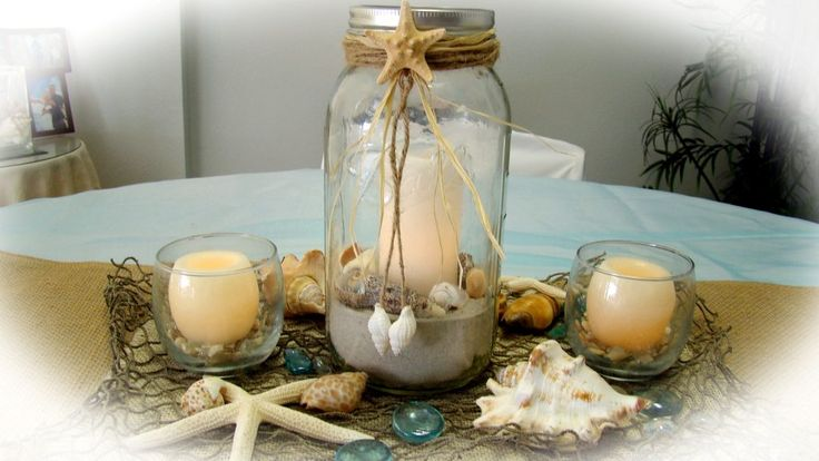 Sand Petal Weddings offersthe convenient rentalservice of beach style centerpieces forease to the traveling destination bride . Our numerousdesign style centerpieces featuring various elements like shells, starfish, candle light, mirror base's, platters, vases, gems, mason jars, lanterns & silk floral ...
