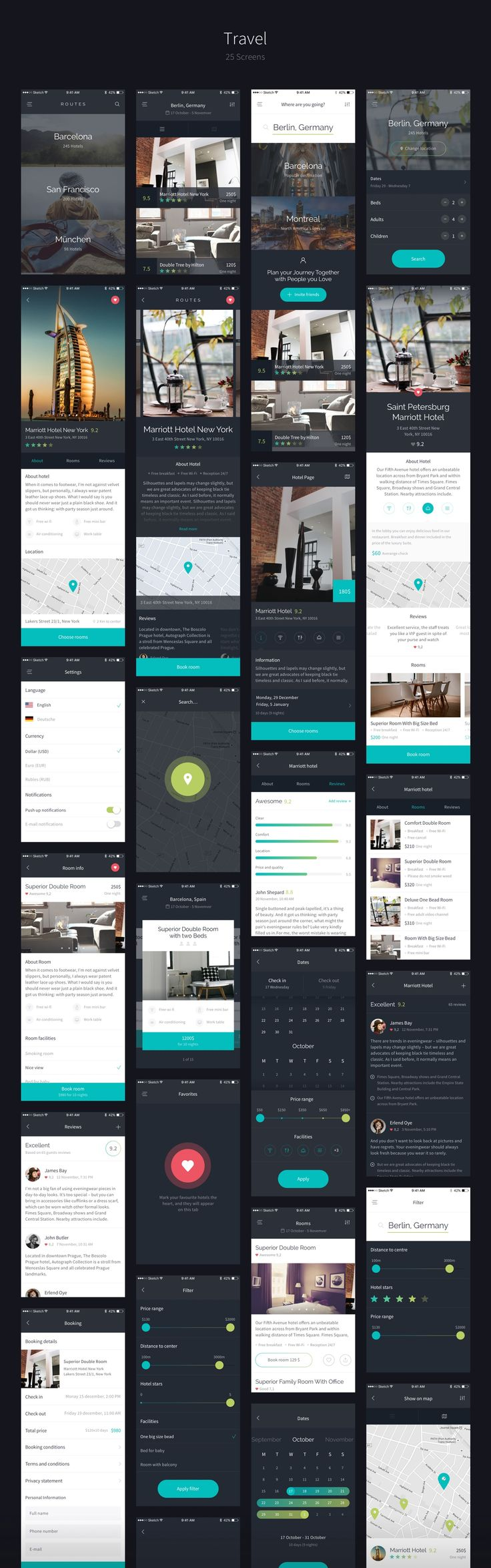 This is Routes – right in front of you. Routes is a big iOS UI Kit, full of nice UI elements, organized into 100+ qualitative screens. Routes is about things that make us happy – about traveling, communication and spending money on nice things. It's about…
