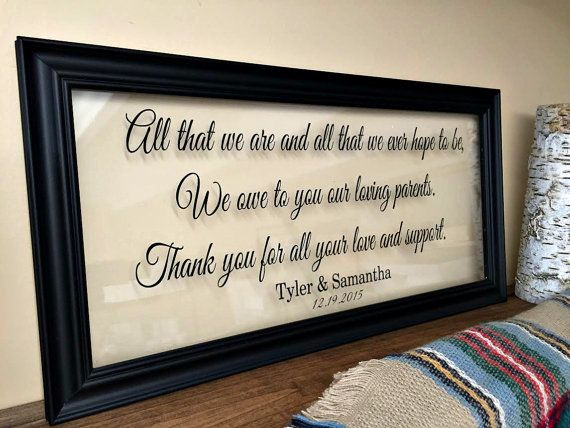 Wedding Day Gift For Parents : ... wedding gift grandparents grandparents wedding parents wedding gift