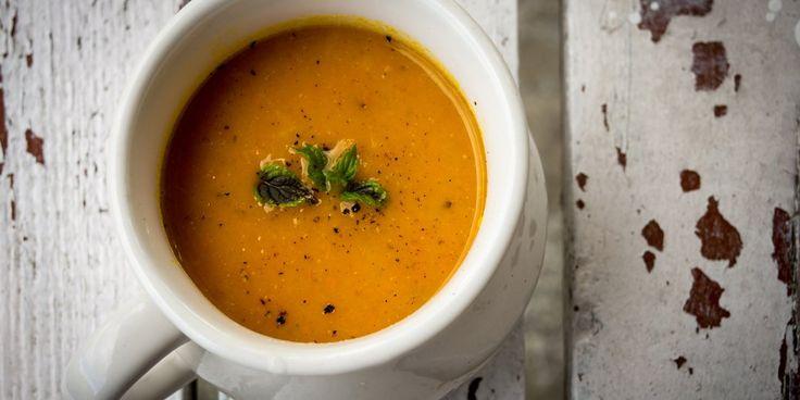 Καροτόσουπα με πορτοκάλι και τζίντζερ
