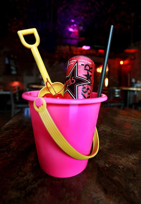 Susie Q Skinny Bucket: four different flavored vodkas and ...