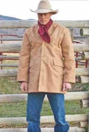 Cotton Canvas Wyoming Western Cowboy Coat