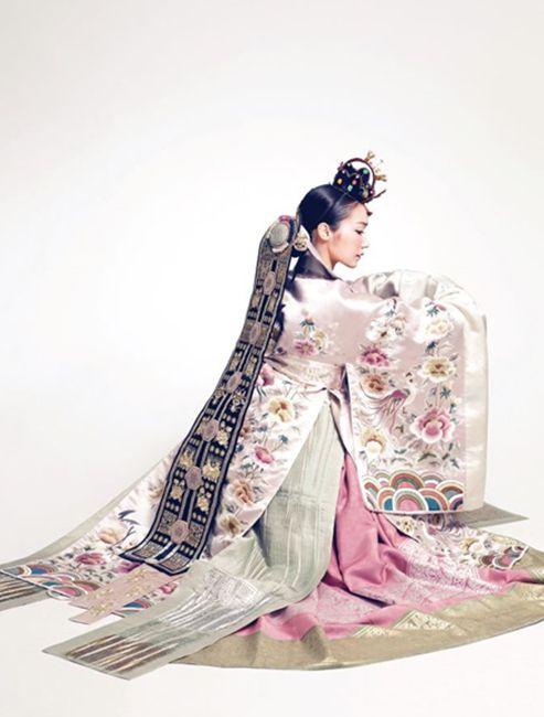 Traditional Korean wedding dress