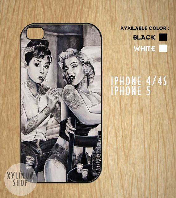 Audrey Hepburn and Marilyn Monroe Case Available for by XYLINUM, $15.00