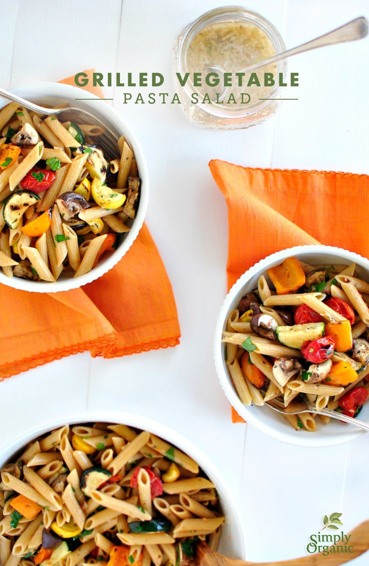 Pasta With Grilled Vegetables And Herbs Recipe — Dishmaps